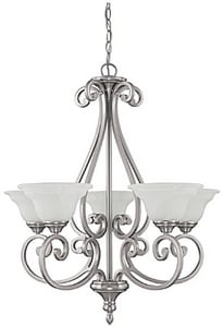 Capital Lighting Fixture Chandler 100 W 5-Light Medium Chandelier C3075MN222