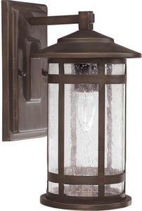 Capital Lighting Fixture Mission Hills 7 in. 100 W 1-Light Medium Wall Lantern C9951BB