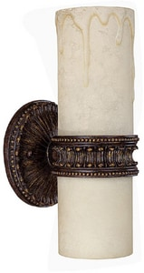 Capital Lighting Fixture Highlands 60 W 5-1/2 in. 2-Light Medium Wall Sconce in Weathered Brown C1591WB