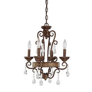 Capital Lighting Fixture 60 W 4-Light Candelabra Chandelier C4608DS