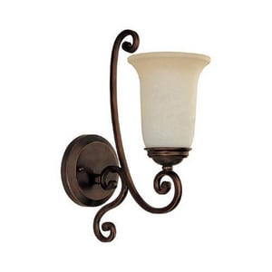 Capital Lighting Fixture Cumberland 100 W 15-1/4 in. 1-Light Medium Wall Sconce in Burnished Bronze C1761BB251
