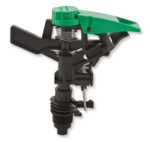 Aqualine 1/2 in. Plastic Impact Sprinkler in Black|Green AQUP50