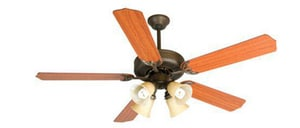 Craftmade International Contractor's Design Contra Fan Light Kit in Aged Bronze CCDU204AGCFL