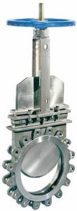 Velan Valve 310C 316L Stainless Steel 1-Way Flow Outside Stem and Yoke Knife Gate Valve VL0310C13ST