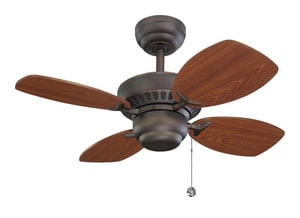 Monte Carlo Fan Company Colony II Collection 46W 4-Blade Ceiling Fan with 28 in. Blade Span M4CO28