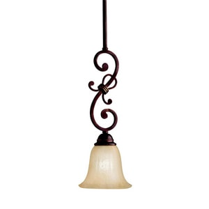 Kichler Lighting Wilton™ 18 in. 100 W 1-Light Medium Pendant in Carre Bronze KK3489CZ