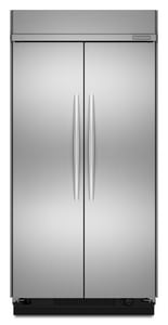 Kitchenaid Architect® 30 CF 48 in. Wrapped Metal Door Built-In Side-By-Side Refrigerator in Stainless Steel KKSSC48FTS