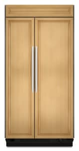 Kitchenaid Architect® 48 in. Built-In Side-By-Side Refrigerator With Custom Panel Ice Maker KKSSO48FTX