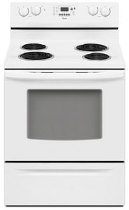 Whirlpool 29-7/8 in. 4.8 cf 3400W 4-Burner Self-Cleaning Freestanding Electric Range WRF263LXT