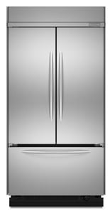 Kitchenaid Architect® 42 in. Built-In French Door Refrigerator KKBFC42FTS