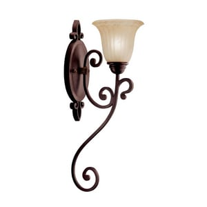 Kichler Lighting Wilton™ 100 W 10 in. 1-Light Medium Wall Sconce KK5987CZ