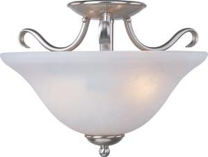 Maxim Lighting International Basix 100 W 2-Light Semi-Flush Mount Ceiling Fixture with Ice Glass M10120IC