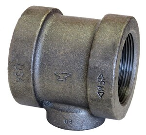 Anvil 125# Threaded Black Cast Iron Reducing Tee BCIT