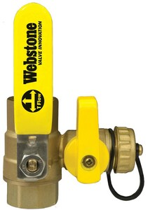 Webstone Company Isolator® 1 in. 600 psi Forged Brass IPS Full Port Ball Valve with Drain W40614