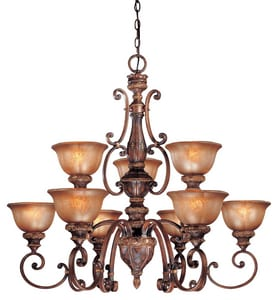 Minka Illuminati™ 100 W 9-Light 2-Tier Medium Chandelier M1358177