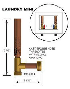 Precision Plumbing Products MHT Laundry Water Arrestor PMM500L