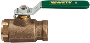 Watts Durafill ® 600 psi 2-Piece IPS Bronze Standard Port Ball Valve WB6000M2