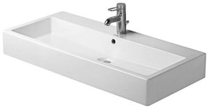 Duravit USA Vero™ 39-3/8 in. Single-Hole Ceramic Wall Mount Basin D04541000001