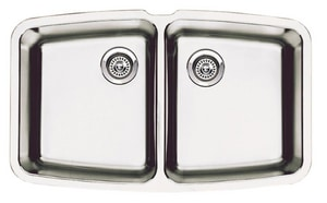 Blanco America Performa™ 10 in. 2-Bowl Stainless Steel Undermount Kitchen Sink B440110