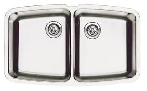 Blanco America Performa™ 10 in. 2-Bowl Stainless Steel Undermount Kitchen Sink B440110