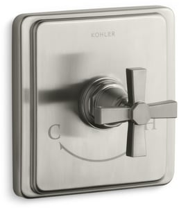 Kohler Pinstripe® 6-3/4 in. Thermostatic Valve Trim Pure Design with Single Lever Handle KT13173-3A