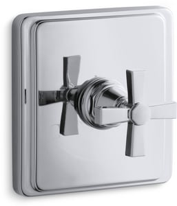 Kohler Pinstripe® Thermostatic Valve Trim with Cross Handle KT13173-3A