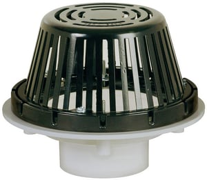 Sioux Chief PVC Roof Drain SCH40 Epoxy- Coated Aluminum Dome Strainer S868PM