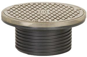 Sioux Chief Finish Line™ No-Hub Round Cleanout with Ring and Cover S834DHNR
