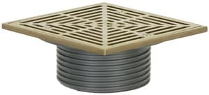 Sioux Chief Finish Line™ No-Hub Adjustable Ductile Iron Flashing Drain with Strainer Nickel Bronze S8324DHNQ