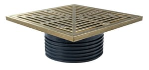 Sioux Chief Finish Line™ 6- 1/2 in. Diameter Head Adapter Square Adjustable Floor Drain SCH40 Hub Connection S8324HNQ