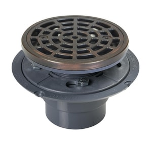 Sioux Chief 2 Round PVC Drain Cast Oil Rubbed R Ring and Strain Oil Rubbed Bronze S821200PRBR