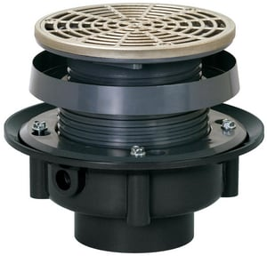 Sioux Chief Finish Line™ ABS Adjustable Floor Drain with Nickel Ring & Strainer S8333ANR