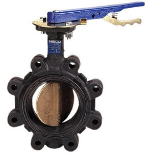 Nibco 200# Cast Iron, Aluminum and Bronze EPDM Lug Butterfly Valve NLC20003