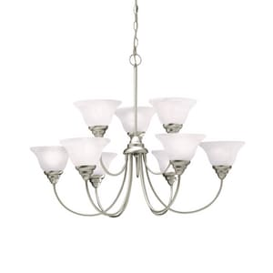 Kichler Lighting Telford 25 in. 9-Light Medium E-26 Base Chandelier KK2077