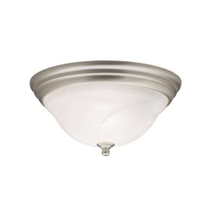 Kichler Lighting Telford™ 75W 2-Light Medium Flush Mount Ceiling Light KK8076