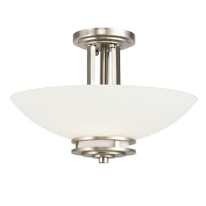 Kichler Lighting Hendrik™ 10 x 15 in. 60W 2-Light Medium Semi-Flush Mount Ceiling Fixture KK3674