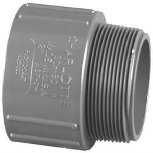 Charlotte Pipe & Foundry Schedule 80 PVC Slip x Male Adapter P80SMA