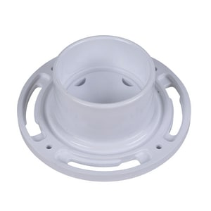 Oatey 4 x 3 in. PVC EZ Iron Pipe Thread Tap On Pipe Closet Flange With Plastic Ring O43612