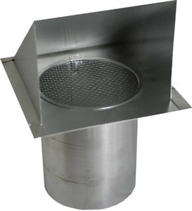 Royal Metal Products 28 ga Galvanized Wall Cap with 12 in. Extension Damper R300D