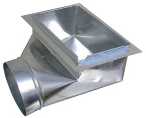 Royal Metal Products 6 x 12 in. 90 Degree Ceiling Boot with Plate R357612
