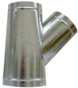 Royal Metal Products 10 in. x 8 in. x 8 in. 28 ga Galvanized Steel Stub Wye R2761088