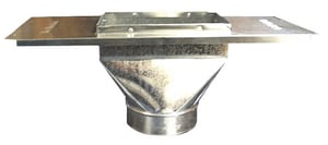 Royal Metal Products 6 x 12 x 8 in. Straight Ceiling Boot with Plate R3566128