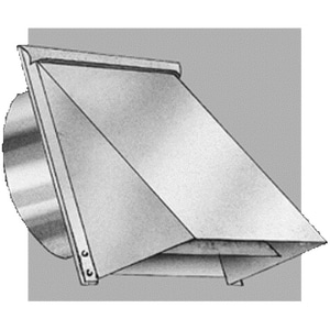 Royal Metal Products 6 in. Galvanized Wall Cap With Screen R300S6