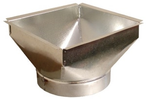 Royal Metal Products 10 x 8 in. Square Round Ceiling Box R320T1010
