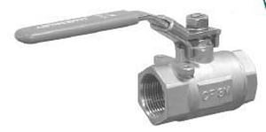 Jamesbury 2-17/50 in. 2-Piece Threaded Ball Valve in Stainless Steel J156MD