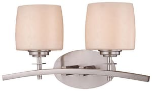 Minka Raiden™ 7-1/4 in. 100 W 2-Light Medium Bracket in Brushed Nickel M618284