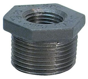 300# Black Ductile Iron HEX Bushing IBDIB