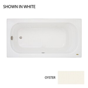 Jacuzzi Luxura® 66 x 34 in. Acrylic Rectangle Drop-In or Skirted Bathtub with End Drain JLUX6634BUXXXX