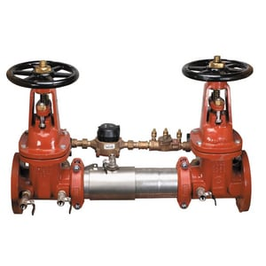 Ames Fire & Waterworks C300 C300 Double Check Detector Assembly with Outside Stem and Yoke Gate Valve with 304 Stainless Steel Housing and Sleeve AC300OSYC