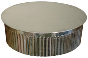 Royal Metal Products Tee Cap with Crimp R273